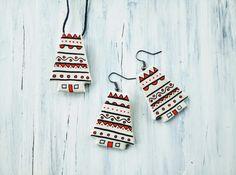 HandPainted Clay Jewelleries Clay Jewelry, Advent Calendar, Handmade Jewelry, Hand Painted, Holiday Decor, Home Decor, Decoration Home, Handmade Jewellery, Room Decor