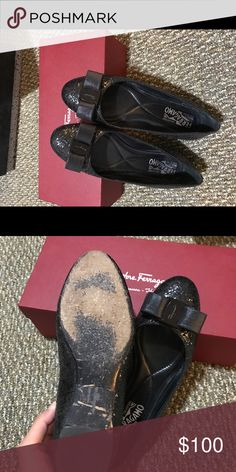 """salvatore ferragamo flats The sole looks so """"old"""", but the shoes is really new! Wore 5 times. Salvatore Ferragamo Shoes Flats & Loafers"""