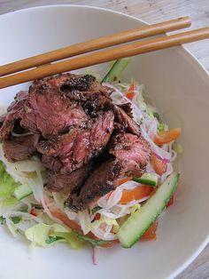 Bún Bò Nướng Xả (Lemongrass Beef Noodle Salad)