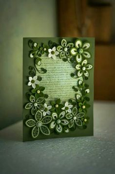 Beautiful quilled card!