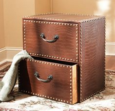 FILE CABINET MAKE OVER!! Turn you old, ugly file cabinet into this ...