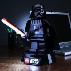 Lego Star Wars Darth Vader Desk Lamp! Let the Dark Side illuminate you.