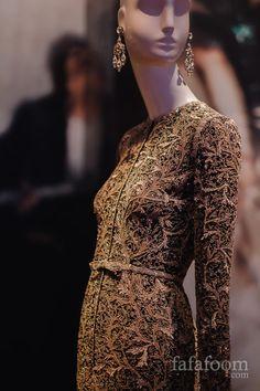 Details of Oscar de la Renta, Evening dress, Fall 1996.