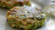 Greek zucchini fritters make a delicious vegetarian addition to a meze (appetizer) table or buffet. Serve plain or top them with fresh tzatziki sauce. Greek Recipes, Italian Recipes, Jewish Recipes, Italian Cooking, Appetizers Table, Greek Appetizers, Zucchini Fritters, Vegetarian Cheese, Vegetarian Meals