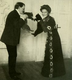 Józef Mehoffer - the artist and his wife, Circa 1910.