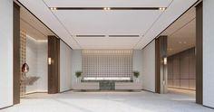 Sales Center, Sales Office, Hotel Lobby, Sofa Furniture, Front Desk, Bathtub, Interior Design, Sanya, Home Decor