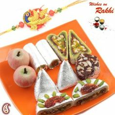 Assorted Kaju Sweets With Free Rakhi And Tilak @ http://www.rakhistoreonline.com/rakhi-with-sweets/assorted-kaju-sweets-with-free-rakhi-and-tilak.html