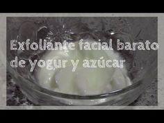 Exfoliante barato para la cara con yogur y azúcar - YouTube
