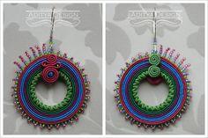 Orbis Model - soutache earrings