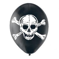 Skull With Bones Latex Balloons