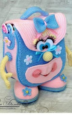 Free and Easy and Awesome Amigurumi crochet Pattern ideas for This Year Part 2 ; amigurumi for beginners; amigurumi for beginners; Crochet Amigurumi Free Patterns, Crochet Animal Patterns, Free Crochet, Knitting Patterns, Crochet Backpack, Backpack Pattern, Crochet Handbags, Amigurumi Doll, Crochet Designs