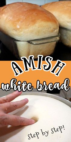 Yeast Bread Recipes, Amish Recipes, Bread Machine Recipes, Cooking Recipes, Amish White Bread, Homemade White Bread, Bread And Pastries, Easy Bread, Biscuit Recipe