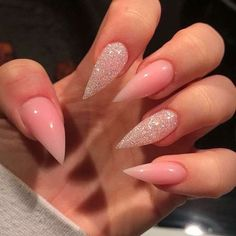 Over 30 fearless combinations with stiletto nails design ideas: Page 15 of . - Over 30 fearless combinations with stiletto nails design ideas: page 15 of … – fearless - Acrylic Nails Stiletto, Best Acrylic Nails, Coffin Nails, Stiletto Nail Designs, French Stiletto Nails, Acrylic Art, Gorgeous Nails, Pretty Nails, Pink Nails