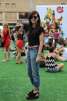 Style Sónar - 2014 Mom Jeans, Pants, Style, Fashion, Trouser Pants, Swag, Moda, Fashion Styles, Women's Pants