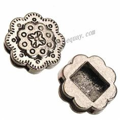 Zinc Alloy Slide Beads,Flower,Plated,Cadmium And Lead Free,Various Color For Choice,Approx 18*6mm,Hole:Approx 2mm,Sold By Bags,No 010775