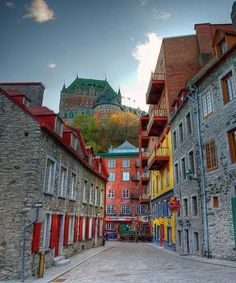 Quebec (i/kwɪˈbɛk/ or /kəˈbɛk/; French: Québec, is the capital of the Canadian province of Quebec. As of the city has a population of and the metropolitan area has a population of making it the second most populous city in Quebec a Wonderful Places, Great Places, Places To See, Beautiful Places, Beautiful Streets, Places Around The World, Travel Around The World, Around The Worlds, Old Quebec
