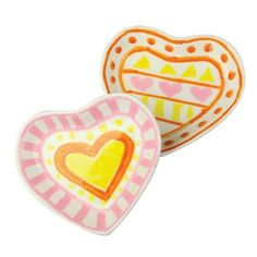 24 x BLANK PORCELAIN HEART DISH - Perfect for MOTHER'S DAY