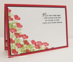 Stampin' Up! UK Demonstrator - Teri Pocock: Wild About Flowers - Poppies