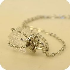 Bow Gift Crystal Present Necklace. 🆕 New woman's cute present gift box crystal clear chain necklace. Beautiful to wear or Makes a cute gift. Fast shipping, bundle and save. Thank you. Gift Box Jewelry Necklaces