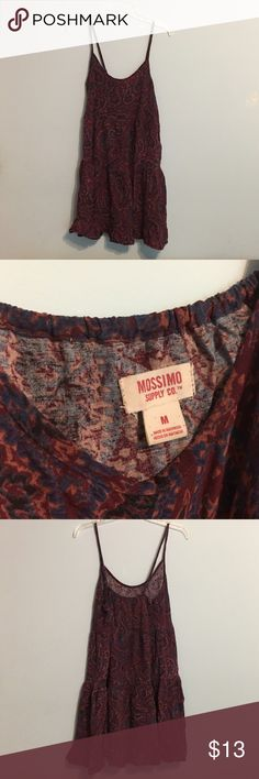 Mossimo Supply Co. Paisley Print Dress Flowy paisley print dress from Xhiliration. Great as a bathing suit coverup. Good condition! *Feel free to make an offer!* Mossimo Supply Co. Dresses