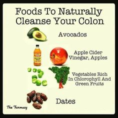 Colon Cleansing Foods --  Love your colon, add any of these to your juices/meals today!