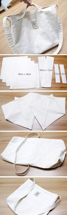 How to Sew Double-Sided Eco Bag. Photo Sewing Tutorial. www.handmadiya.co...