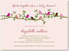 Baby Shower Invitations Fashionable Flock - Front : Chenille