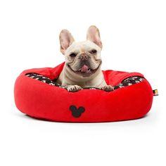 Disney Cozy Cuddler Pet Bed - Red - 22''x22'' , M