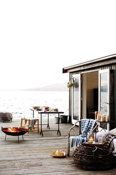 Seaside outdoor entertaining