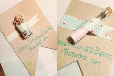 DIY Glitter Vial Business Cards  Adapt with body glitter as a Bachelorette gift idea? Yes please!