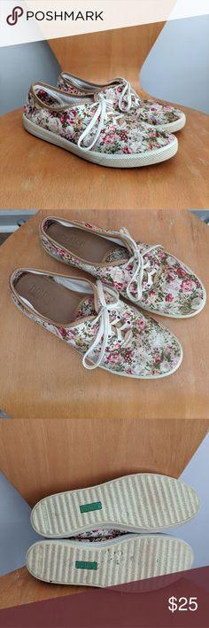 Ladies Casual Lace Up Pump Hotter Mabel Vintage Floral UK Size 3 8 6.5 7 5