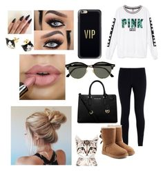 """""""Untitled #201"""" by tumblrsaved2 on Polyvore featuring NIKE, Victoria's Secret, UGG Australia, MICHAEL Michael Kors, Ray-Ban and Casetify"""