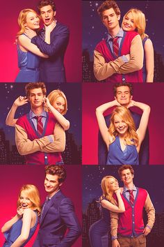 Andrew Garfield and Emma Stone . . . unbelievably cheesy but i still love them