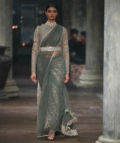 Sabyasachi X Christian Louboutin collaboration 2016 Sabyasachi Sarees, Indian Sarees, Lehenga Choli, Anarkali, Indian Dresses, Indian Outfits, Saree Gown, Net Saree, Saree Trends
