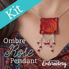 Stitch up lovely necklaces with an embroidery machine.