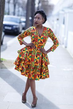 50 Ankara Styles for this december African Maxi Dresses, Ankara Dress Styles, African Attire, African Wear, Ankara Gowns, African Outfits, African Style, African Print Fashion, Africa Fashion