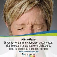 La obstrucción de las vias lagrimales causa infecciones, ojos llorosos e inflamación.