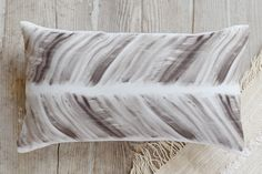 Brushed Herringbone Pillow by Loree Mayer | Minted