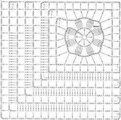 Transcendent Crochet a Solid Granny Square Ideas. Inconceivable Crochet a Solid Granny Square Ideas. Crochet Motif Patterns, Crochet Lace Edging, Granny Square Crochet Pattern, Crochet Diagram, Crochet Chart, Crochet Designs, Crochet Flowers, Crochet Stitches, Crochet Doilies