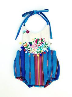 258f936a5df0 Rainbow Embroidered Boho Romper Baby Girl or Toddler Girl Fiesta Party Outfit  Cinco de Mayo Cake