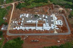 Aerial image of the Kerry Town Ebola Treatment Centre in Sierra Leone by DFID. (Ebola in context).