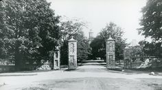 Main entrance, Maassachusetts state infirmary, Tewkesbury Mass by PublicHealthMuseum, via Flickr