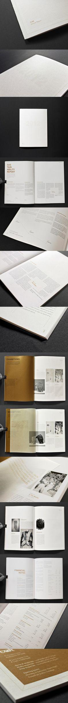 Annual report - Craft Victoria via http://www.behance.net/gallery/Annual-report-Craft-Victoria/4213273