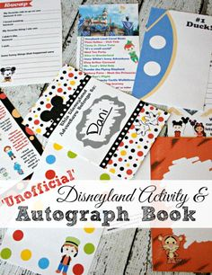 2016 The Unofficial Disneyland Activity And Autograph Book by Busy Mom's Helper. It's perfect for your next trip to Disneyland.