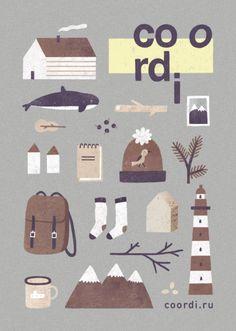 illustration for the postcard for internet-shop of design things coordi.ru