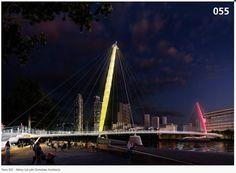 Outlandish concepts submitted for London bridge competition Battersea Power Station, New Territories, Bridge Design, Pedestrian Bridge, London Bridge, Light Project, Futuristic, 1, Gallery