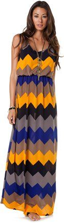 SWELL ZIG DRESS - because chevron is the new black