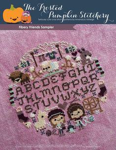 Fibery Friends Sampler Cross Stitch Pattern