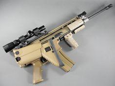 SCAR-L with buttstock folded. Fn Scar, Assault Rifle, Jdm, Weapons, Guns, Military, Weapons Guns, Weapons Guns, Tactical Shotgun