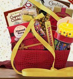 Happy Birthday Gourmet Gift Basket Cookie Cake Chocolates Cupcake Cookies